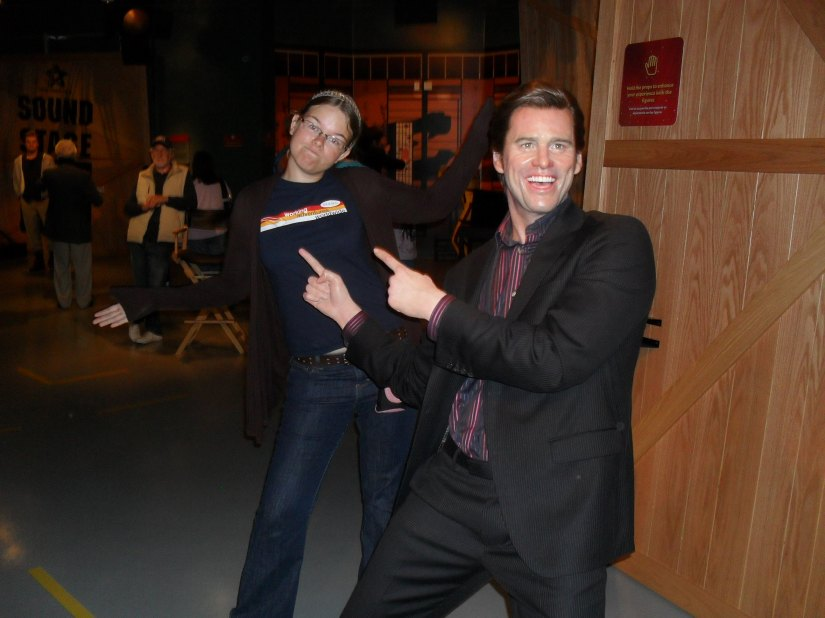 Jim Carey and I having a laugh... cuz we're 'happy'...