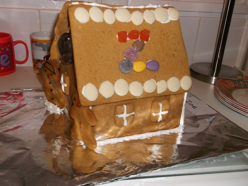 Home 'Sweet' Home. Ginger bread house made by my sister Zoe.