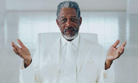 Morgan Freeman as God in the film 'Bruce Almighty'. FYI - he is not actually God. Sorry if this is news to some of you...